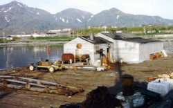 "The Rec Hall for The ""Hitchiti"" and other Fleet Tug crews serving tours on Attu.  [Hal Tenney]"