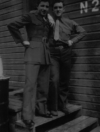Taken on Attu around July of 1946. Kober Seippel on the left, Rene (me) on the right.  [Rene Thibault]